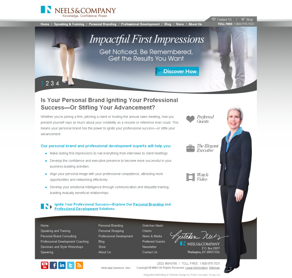 Neels & Company Website Design by Prime Concepts