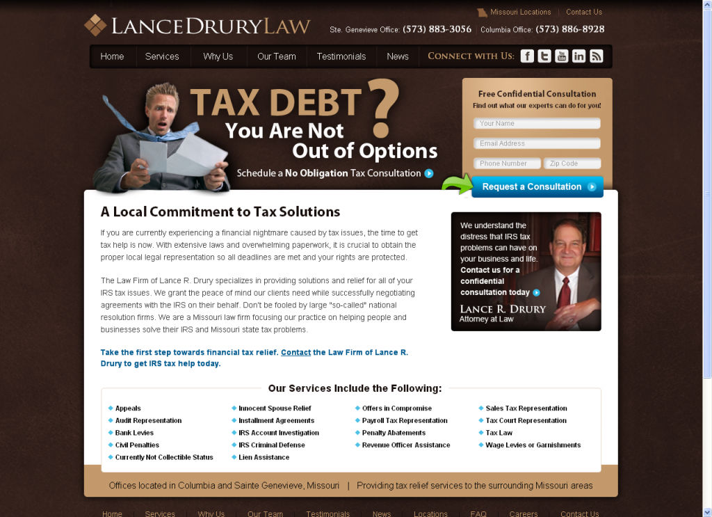Lance Drury Law Website by Prime Concepts Group