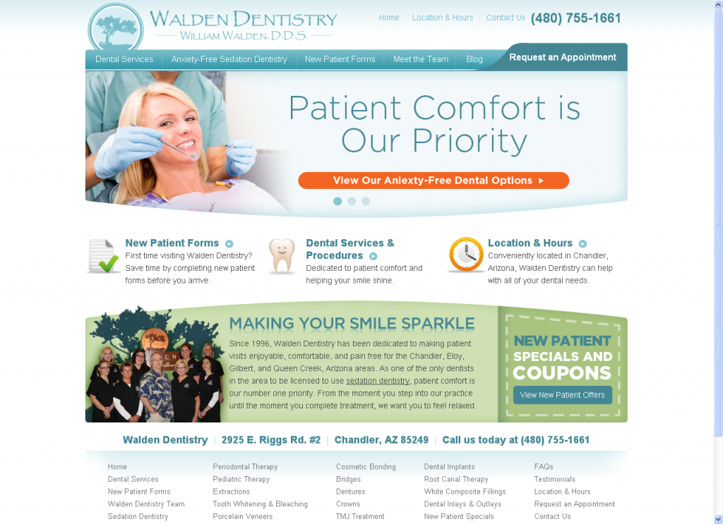Walden Dentistry Website by Prime Concepts Group