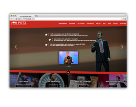 Jon Petz Website Design
