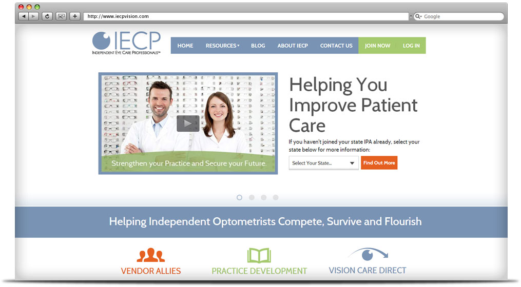 IECP Vision Website Design