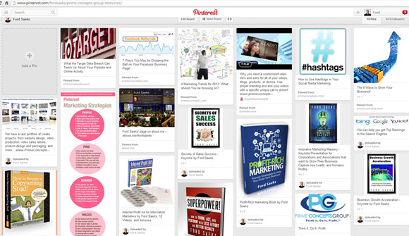 pinterest for business - Ford Saeks